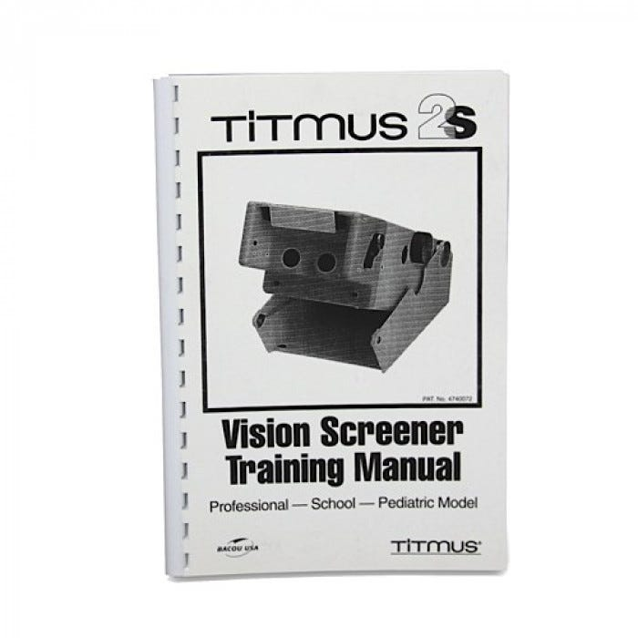 Titmus Training Manual with Cassette Tape
