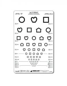Lea symbols chart proportional spaced also ft distance  visual acuity response rh schoolhealth