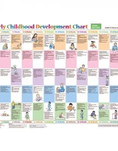 Early childhood development mini poster chart third edition also rd child rh schoolhealth
