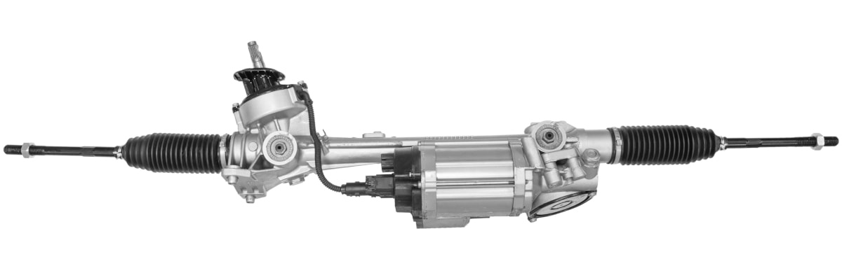 This is an electric power assisted steering rack. You can see that the electric motor is attached to it at the bottom.