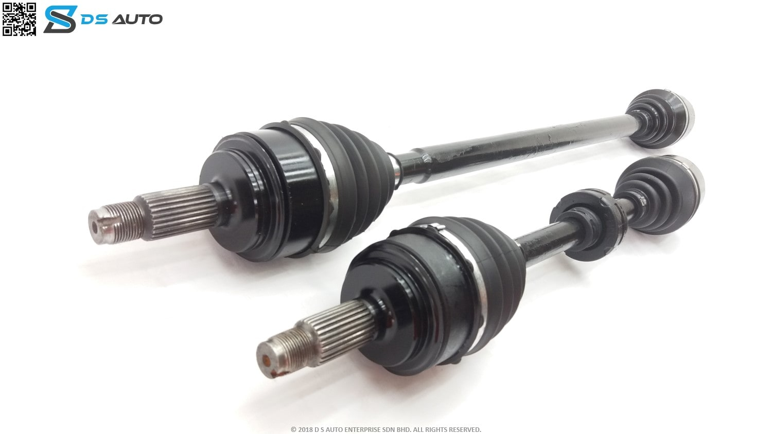 This is a generic Honda drive shaft set, showcasing both the drive shafts from the side view.