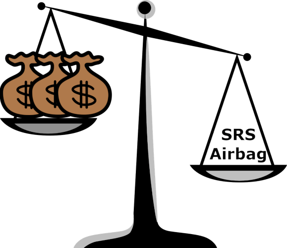 SRS airbags are very expensive. They can cost as much as RM 10,000.