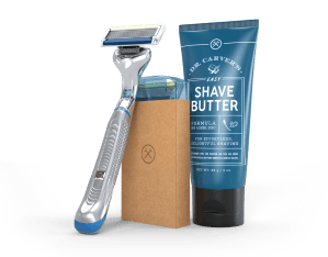 Get our best razor and our world-famous Shave Butter in your 1st box. Then get more of those great products (and anything else you want) in future Restock Boxes.