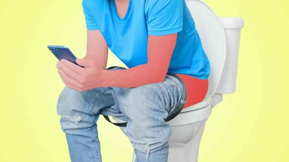 Image result for Toilet with Phone how danger