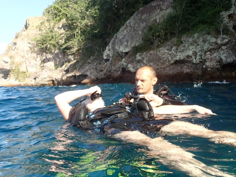 baptême au rocher du diamant- DSC Club de plongée Martinique