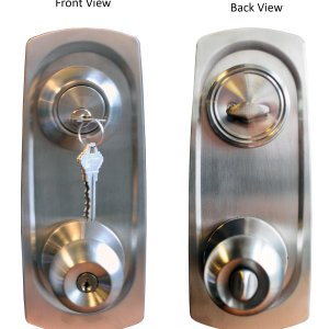 """Chronos"" Combo Entry and Deadbolt Single Cylinder, Keyed-Alike With Plates - DSD Brands"