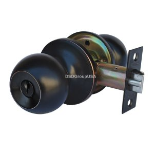 """Chronos"" Entry Oil Rubbed Finish, Door Lever Lock Set Knob Handle Set - DSD Brands"