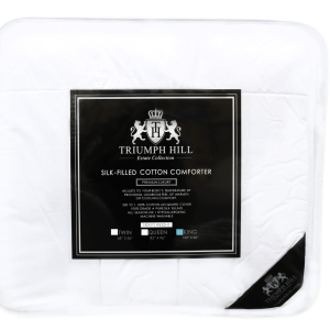 """Triumph Hill"" Silk Heavy Weight Bed Comforter King - DSD Brands"
