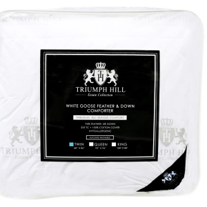 """Triumph Hill"" Feather and Down Bed Comforter Twin/Standard - DSD Brands"