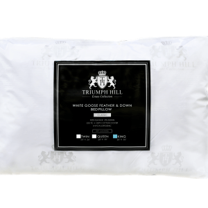 """Triumph Hill"" Feather and Down Bed Pillow Standard/Twin - DSD Brands"
