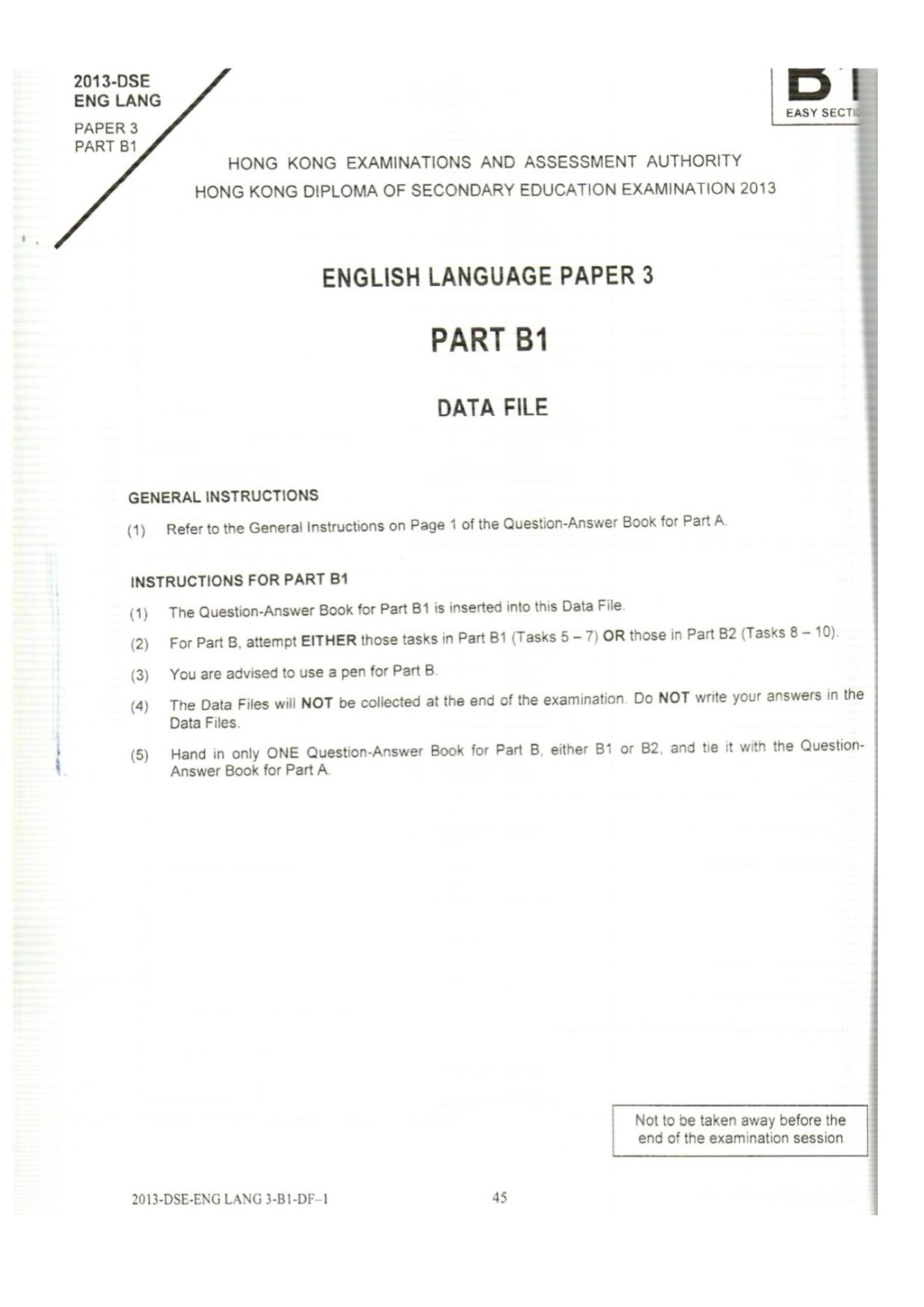 [2013DSE]英文 English Language Past paper – 公開試資源庫
