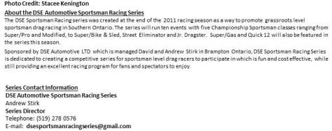 Sportsman Racing Series set for Twleve Race Championship Schedule in 2013 pt2