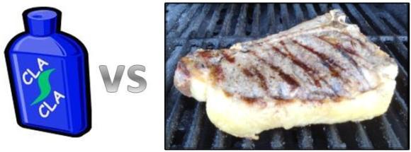 CLA in a bottle versus CLA in pasture grazed steak