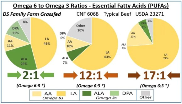 Grassfed beef omega 6 to 3