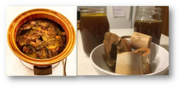 Crock Pot Beef Bone Broth.