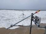 wave meters, university of Delaware, beach erosion study,