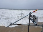 wave meters, university of Delaware, beach erosion study,