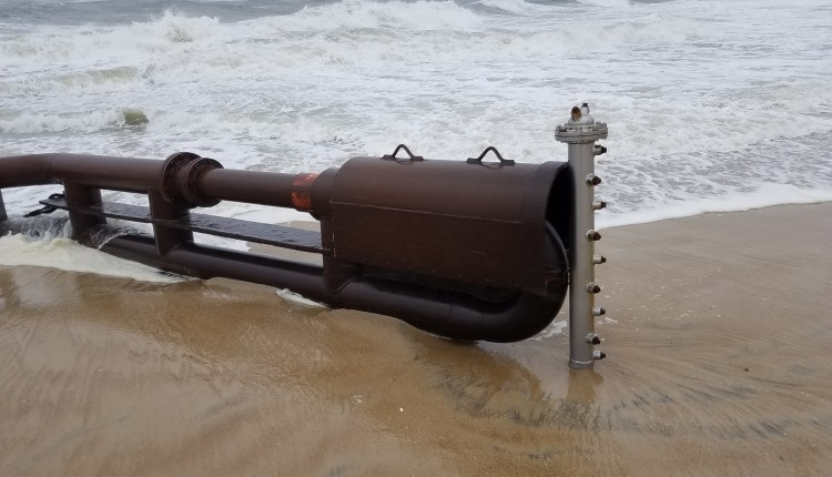 The dredge head used for sand relocation