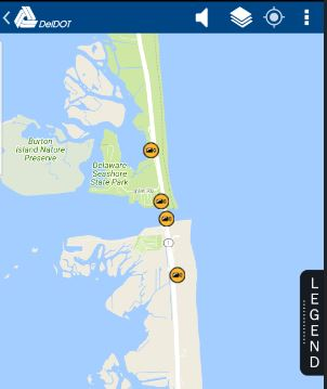Delaware Traffic Map.Deldot Traffic Cam Locations Around The Indian River Inlet And
