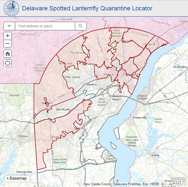 new castle county delaware zip code map