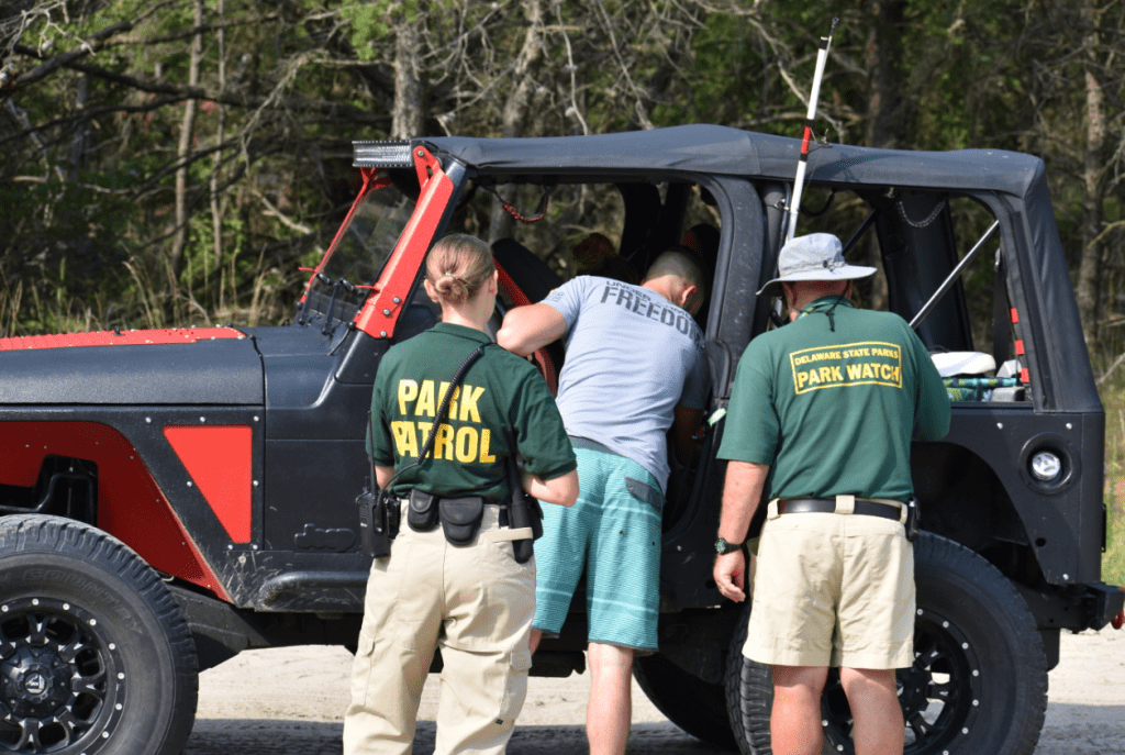delaware state park rangers, sussex county