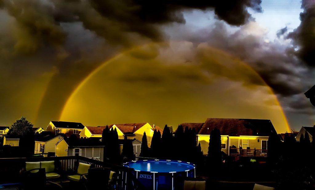 monochromatic rainbow, delaware, kent county, monchrome bow, fog bow
