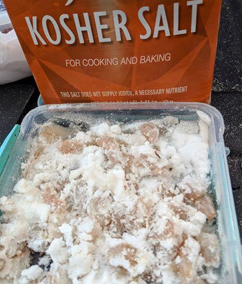 pompano, salted shrimp, bait, shrimp for catching fish, delaware, sussex county, surf fishing, kosher salt
