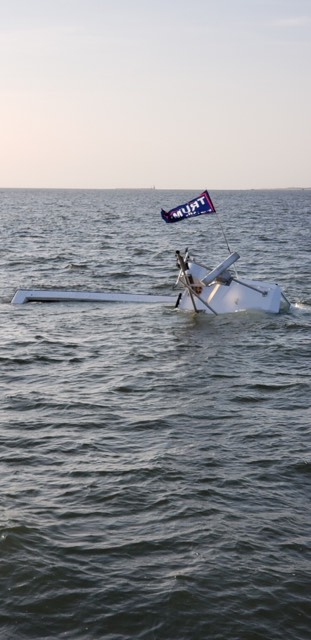 muggy lee, trump flag, maga, delaware coast, sunken boat, sean moore