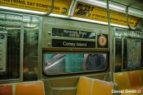Alone On The Westinghouse R68 (D) Train