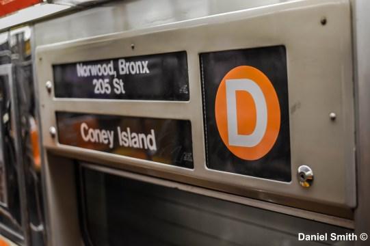 D Train Interior Rollsign