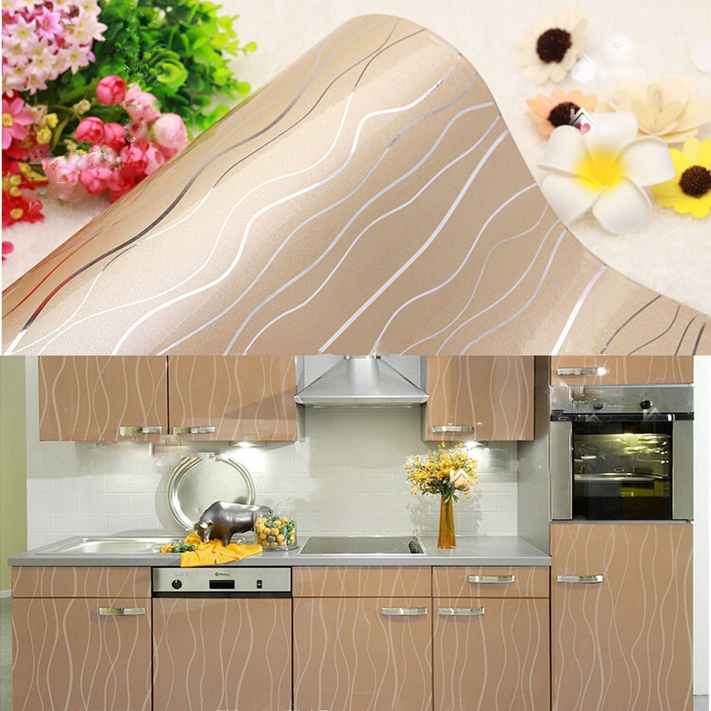 Vinyl Floral Contact Paper Self Adhesive Wallpaper Roll Kitchen