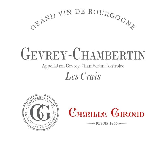 Domaine Camille Giroud Gevrey Chambertin Les Crais 2016