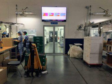 digital signage สำหรับทำ dashboard ที่โรงงานโกรเฮ่ สยาม ระยอง