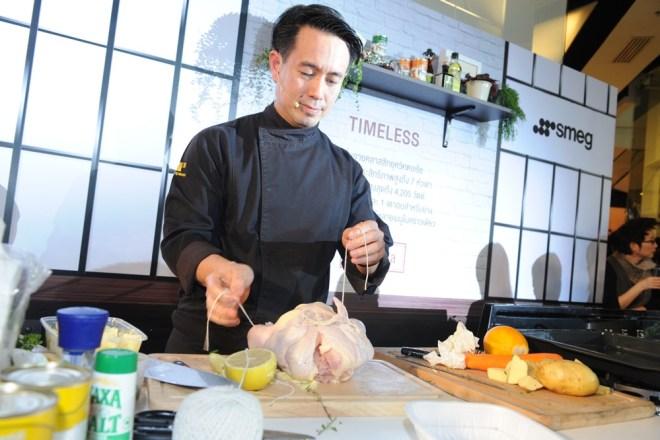 4.เชฟแวน - อายุษกร อารยางค์กูร สาธิตทำอาหารเมนู Roasted duck