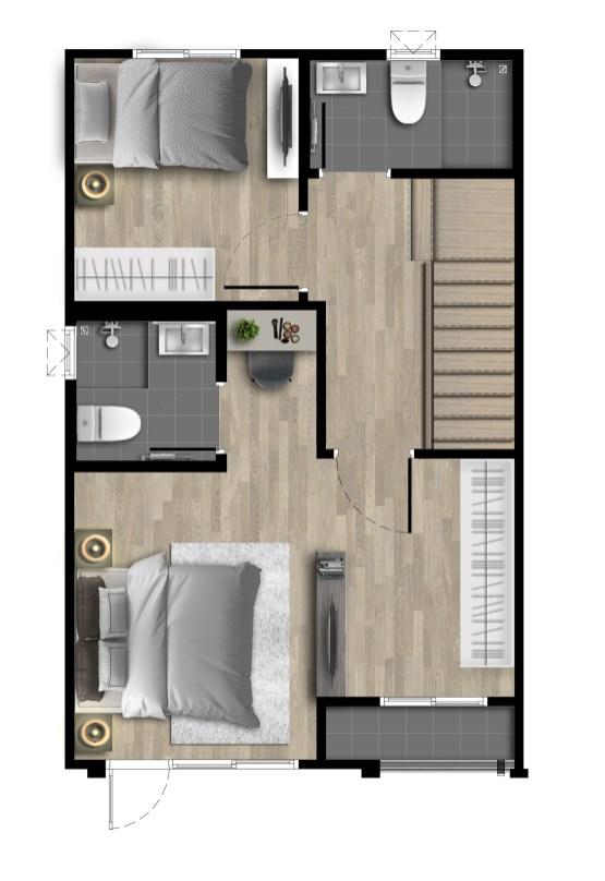 2562-6-23 Floor Plan - PN Bangyai2 - 16.4wa - 2F(M)