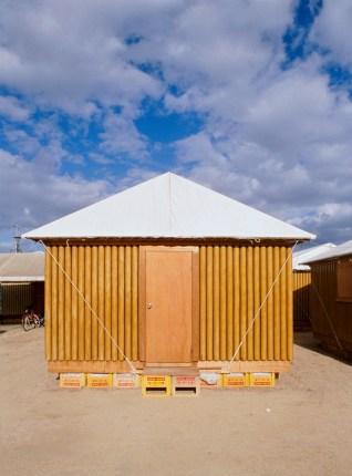 paper log house kobe shelter 4