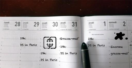 4 DS in Paris par semaine...