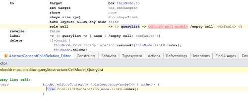 small resolution of so the smodel query specifies that we want to be able to project properties children or references from the linkdeclaration that is connected to the from