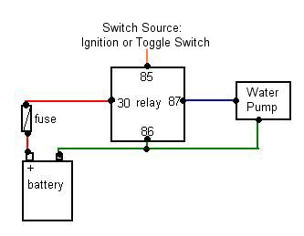 """4 Pin Relay Wiring Diagram & Diode Protection For A Car Relay""""""""sc"""