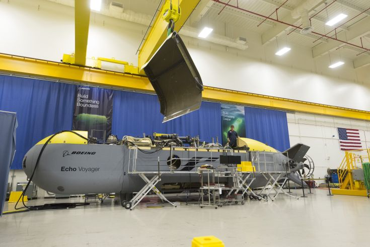 large unmanned submarine being built