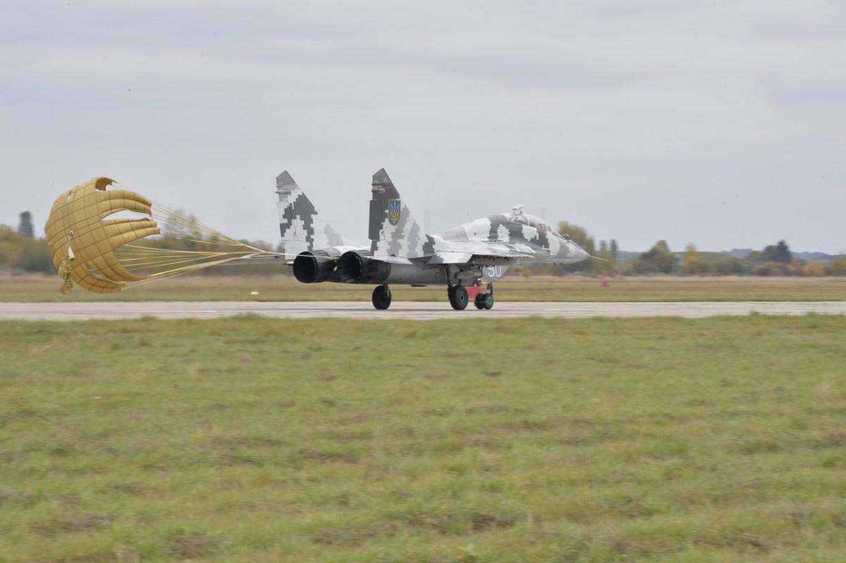 3 UKRAINE PATCHES AIR FORCE 40 AVIATION BRIGADE MIG-29 FULCRUM 2020 STYLE