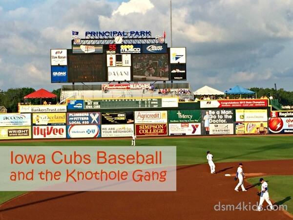 Iowa Cubs Baseball and the Knothole Gang – dsm4kids.com
