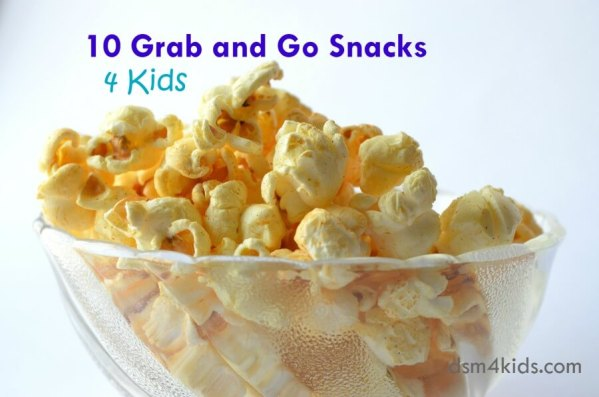 10 Grab and Go Snacks 4 Kids - dsm4kids.com