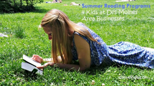 Summer Reading Programs 4 Kids at Des Moines Area Businesses - dsm4kids.com