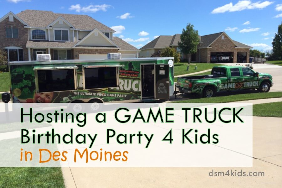 Hosting a Game Truck Birthday Party 4 Kids in Des Moines