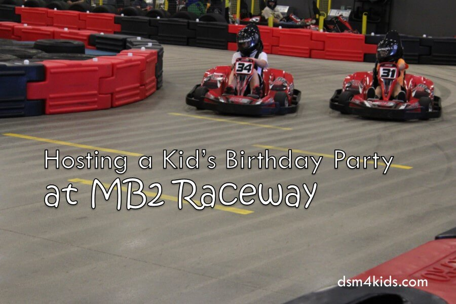 Hosting a Kid's Birthday Party at MB2 Raceway