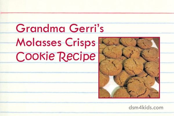 Grandma Gerri's Molasses Crisps Cookie Recipe - dsm4kids.com