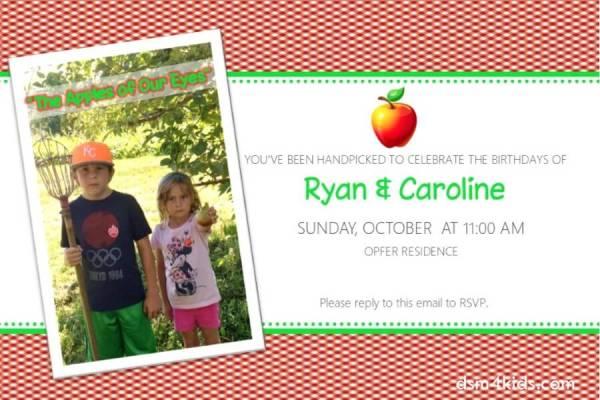 Apple of My Eye: Birthday Party Ideas 4 Kids – dsm4kids.com
