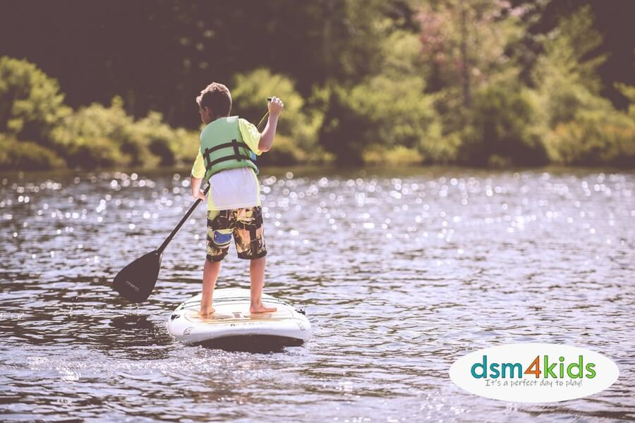 Where to Kayak & Paddle Board with Your Kids in Central Iowa