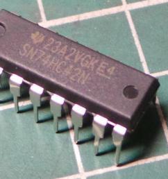 7442 74hc42 high speed cmos logic 1 of 10 bcd to decimal decoder dsmcz [ 1176 x 784 Pixel ]